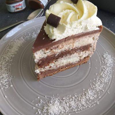 fotografija kokosovo nutellina torta recept
