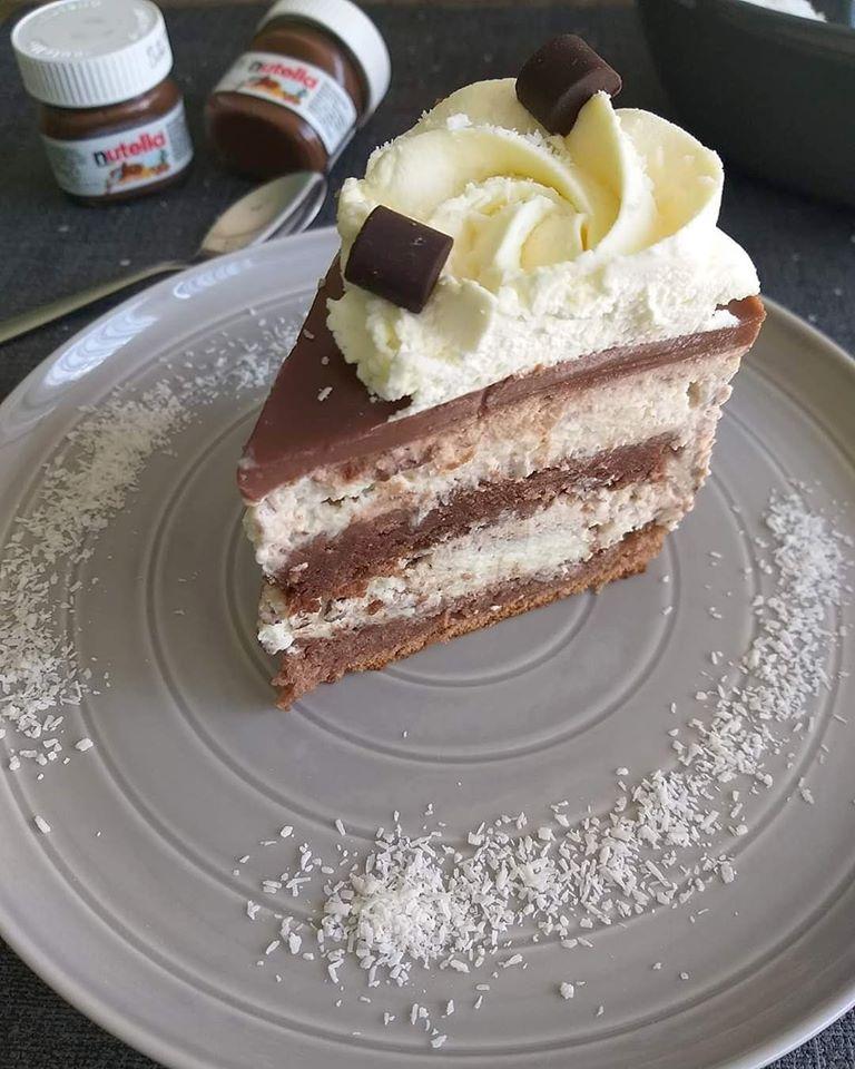 Kokosovo nutellina torta
