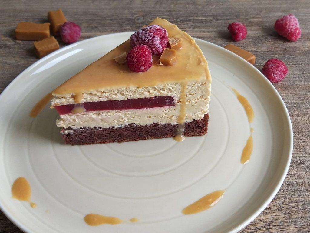 Karamelno malinova torta slika srednja recept
