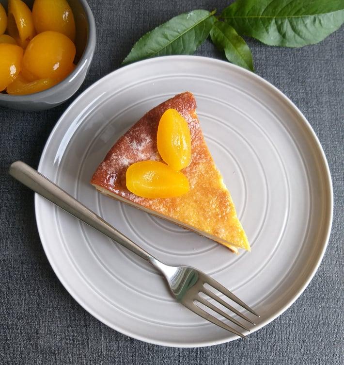 Pečen mascarpone cheesecake recept zgoraj slika