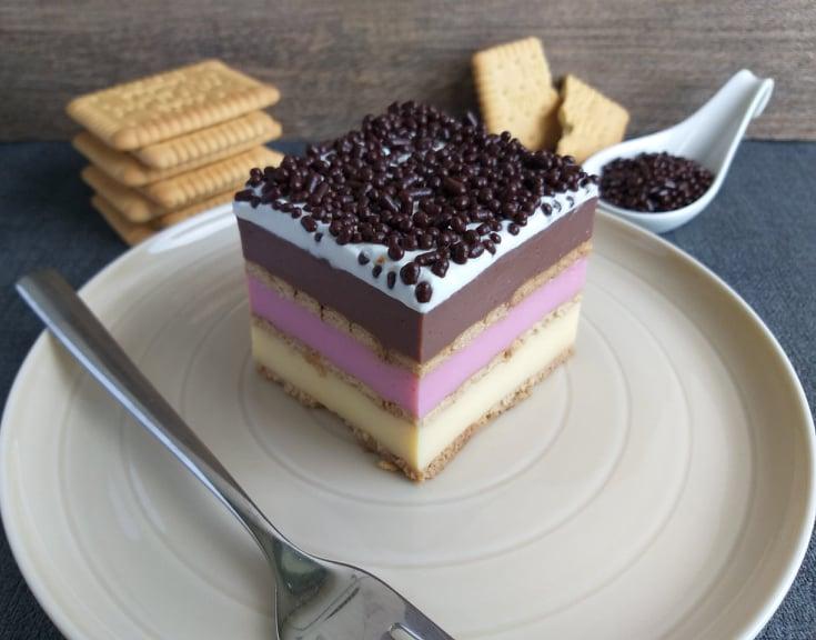 Pudingovo piškotne kocke (babičina torta)