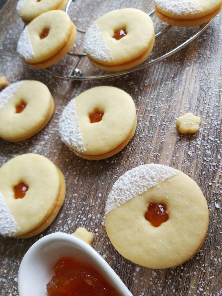 Mandljevi piškoti z marmelado recept sredinaslika