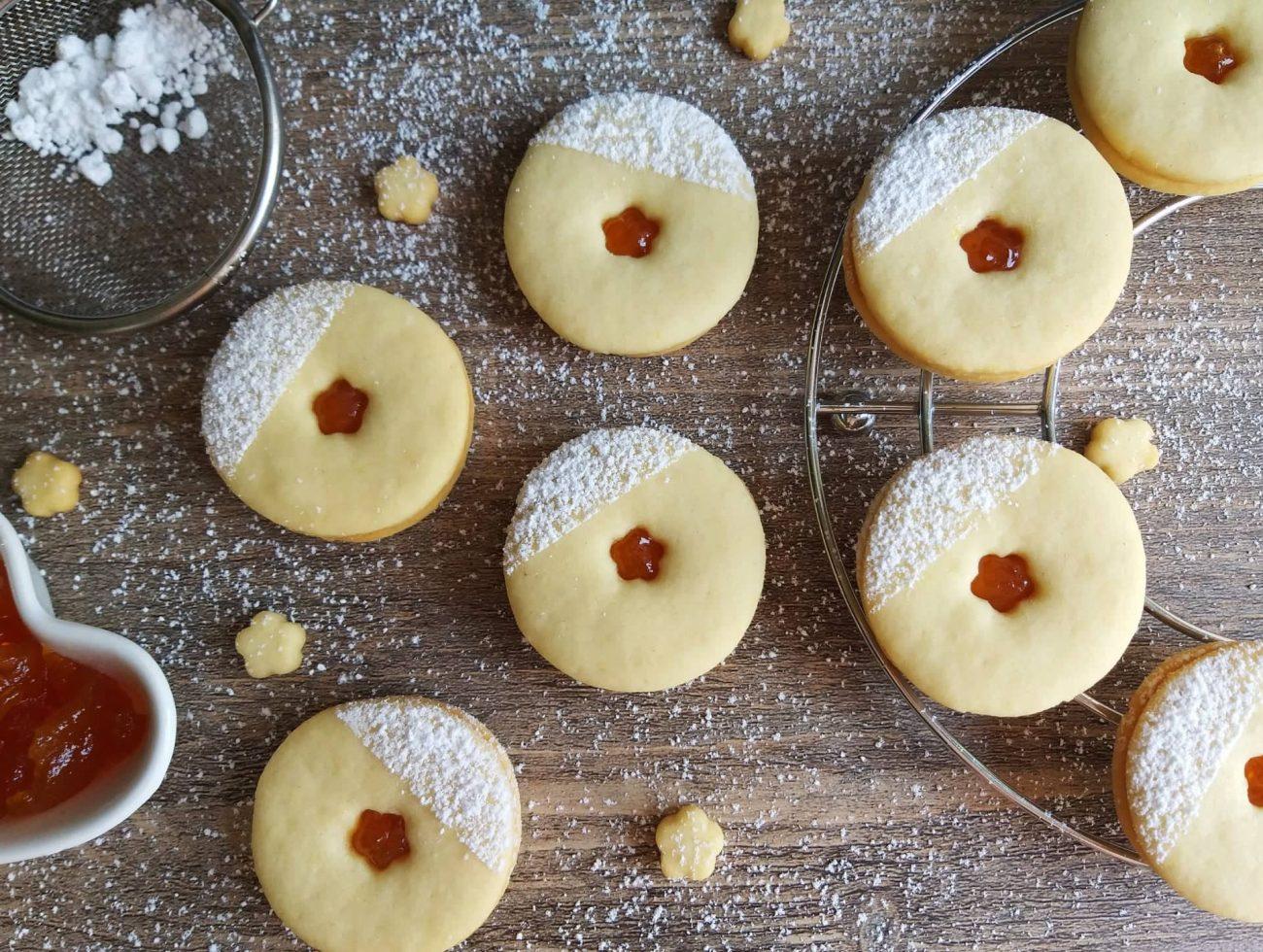 Mandljevi piškoti z marmelado