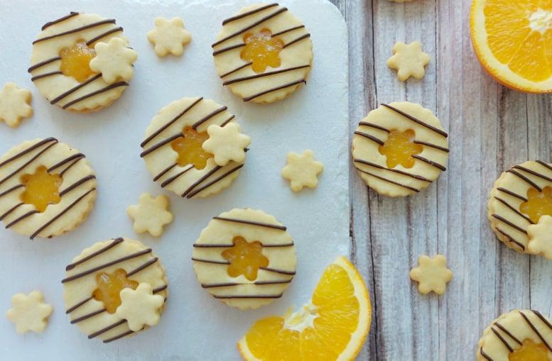 Vaniljevi piškoti s pomarančo in čokolado
